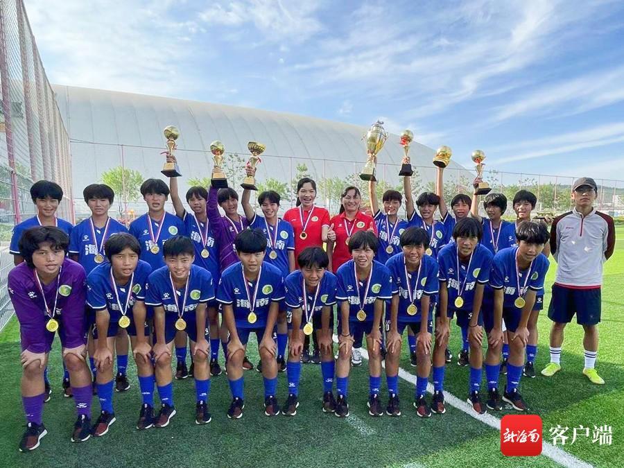 琼中女足夺得2021年中国中学生足协杯初中组冠军