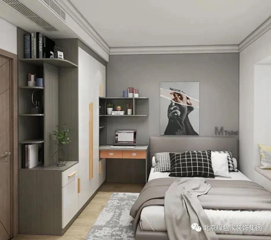 绿色家装饰 | 户型太小,这样设计衣柜和梳妆台兼得!