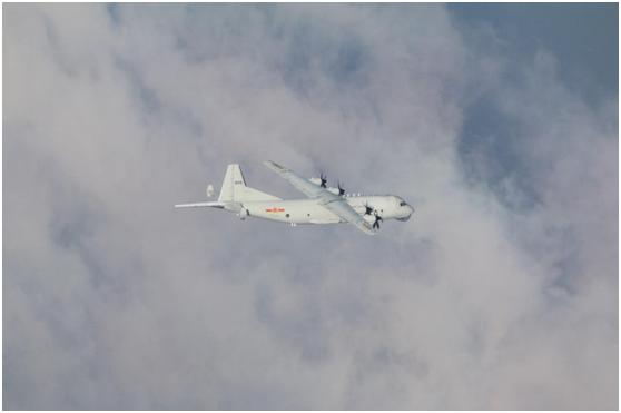 台湾防务部门:解放军一架运-8反潜机昨日下午进入台湾西南空域