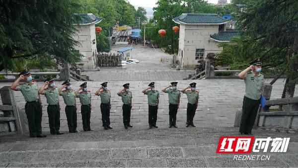 武警龙山中队举行入党宣誓仪式