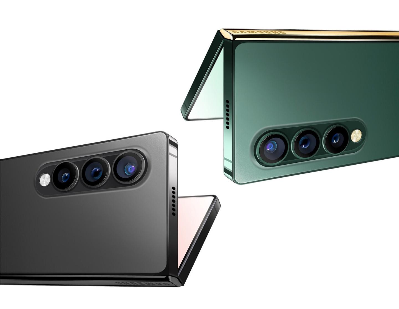 三星 Galaxy Z Fold 3 最新渲染图:直角边框设计