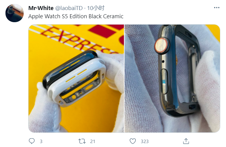 苹果 Apple Watch 黑色陶瓷外壳曝光,用于 Series 5 Edition