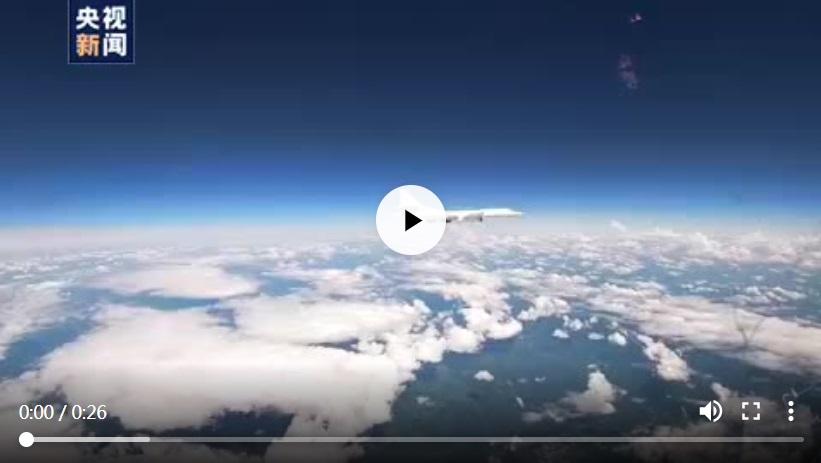 俄国防部公布图-160战略轰炸机在波罗的海上空巡航视频