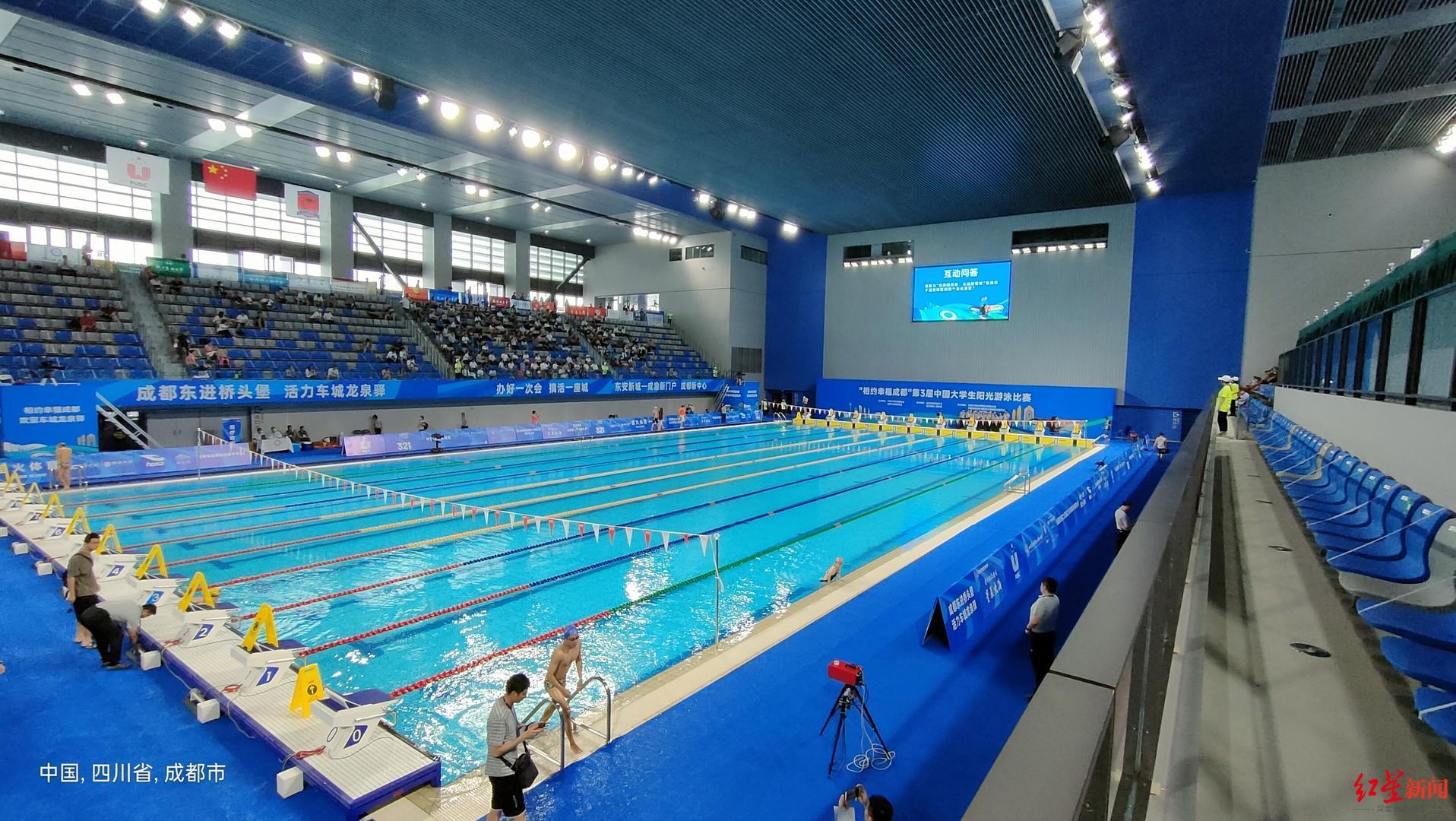 东安湖体育公园游泳跳水馆首秀,首日见证全国纪录大幅刷新