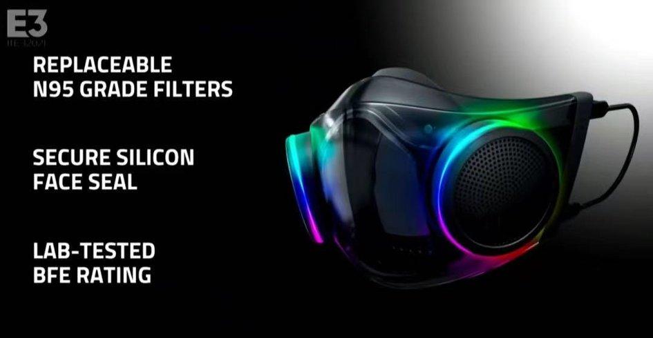 万物皆可RGB:雷蛇RGB口罩将于Q4上市