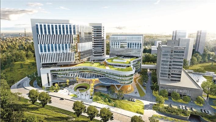 区中心医院续建工程进入攻坚阶段