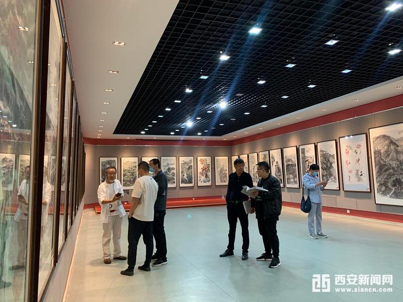 """西安·延安·自贡三地""""山水相连"""" 美术作品交流展暨美术创作活动在西安市群众艺术馆隆重举办"""