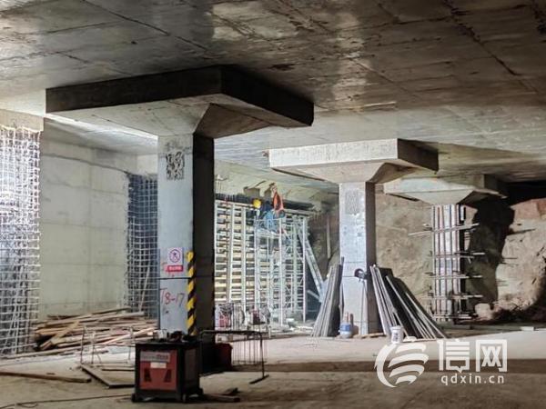 威海路地下工程负一层预计年底完工 百年商圈迭代升级