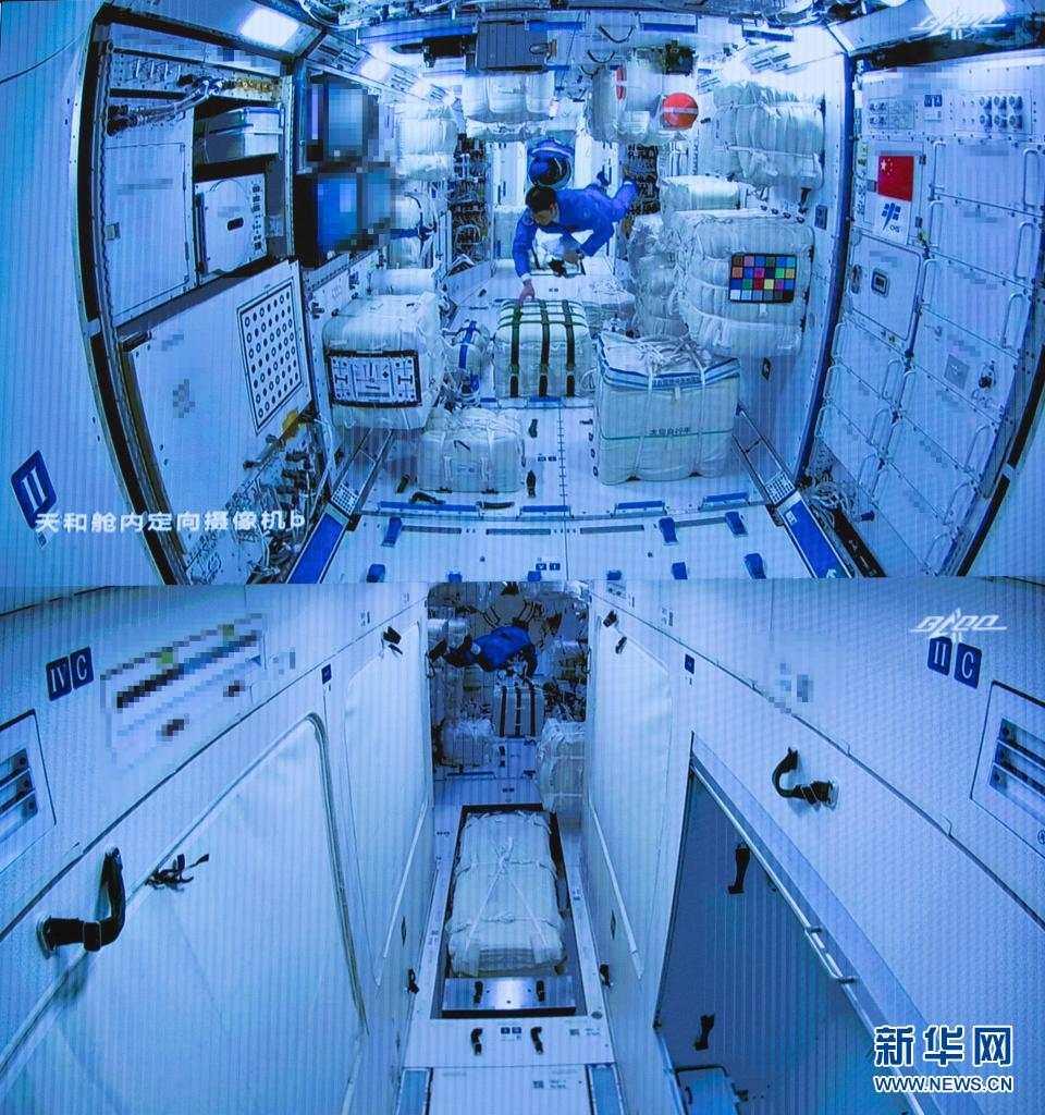 """""""太空之家""""里都有啥:按摩仪、尿处理系统、体重秤…"""