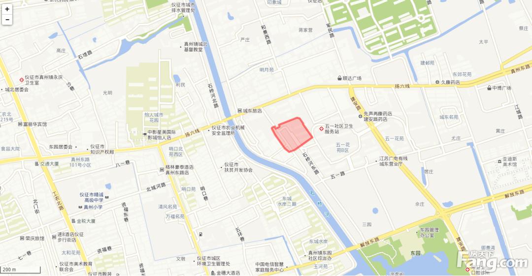 仪征新挂牌2幅住宅用地 最高起始楼面价约为3699元/平米