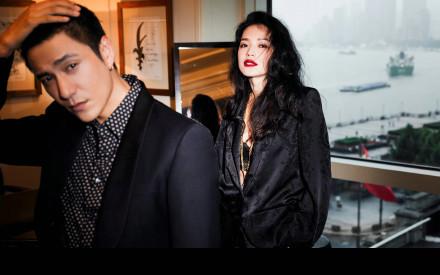 陈坤舒淇合体拍摄大片 两人同框电影氛围感十足