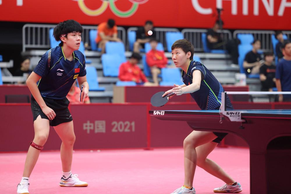 乒乓球——国乒热身赛混双赛况