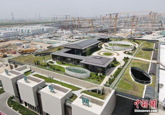 航拍雄安新区首座新建220千伏变电站