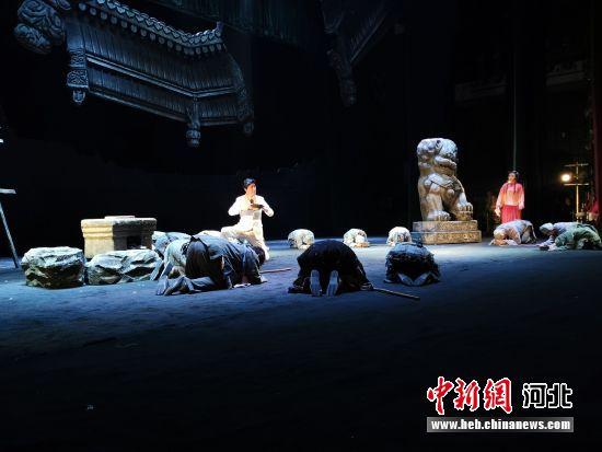 现代评剧《台城星火》河北安平上演