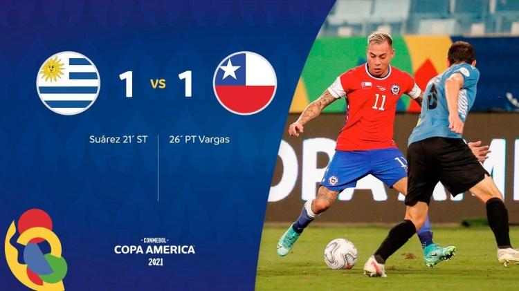 美洲杯-巴尔韦德染黄苏亚雷斯垫射破门 乌拉圭1-1智利两轮不胜