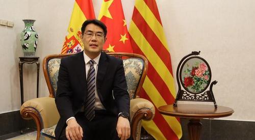 """驻巴塞罗那总领事预祝""""水立方杯""""中文歌曲大赛成功举办"""