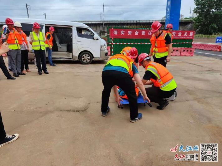 吉水公路建设和养护分中心举行防洪应急救援抢险综合演练(图)