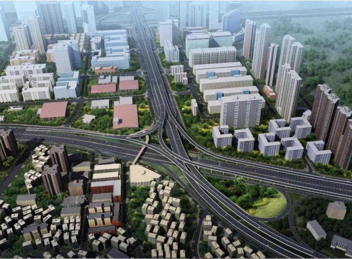 香蜜湖路交通综合改善工程主桥建设完工,立交主线桥等即将开放