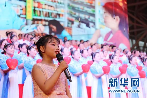 宁夏青铜峡市:唱响革命歌曲 重温红色历史