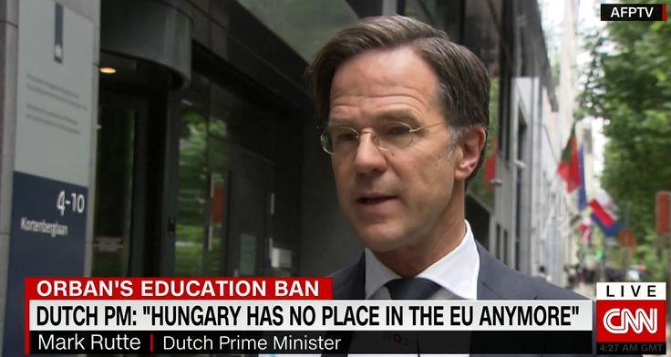 荷兰首相吕特:匈牙利在欧盟无立足之地,视频截图
