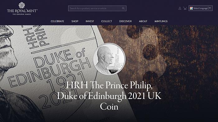 英国皇家铸币厂发行菲利普亲王纪念币,起售价13英镑