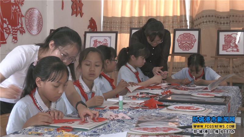 上思县实验小学举行庆祝中国共产党建党100周年剪纸主题活动