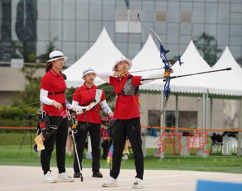 双流射箭场上传喜讯 四川女队勇夺全运资格赛团体赛铜牌
