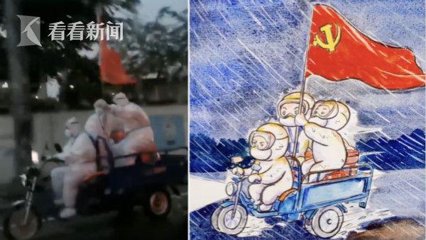 插画师手绘广东抗疫故事:希望一线人员少点辛苦