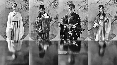 """剧本杀爱好者在上海""""此间剧本杀""""店体验不同角色。资料图片"""