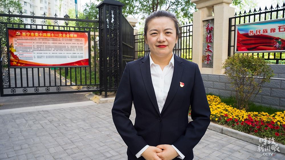 △文亭巷社区党委书记刘翠青(总台央视记者彭汉明拍摄)