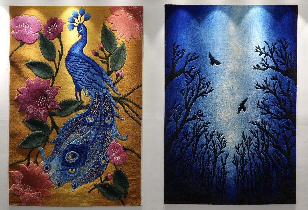 ↑青海圣源地毯集团有限公司生产的藏毯