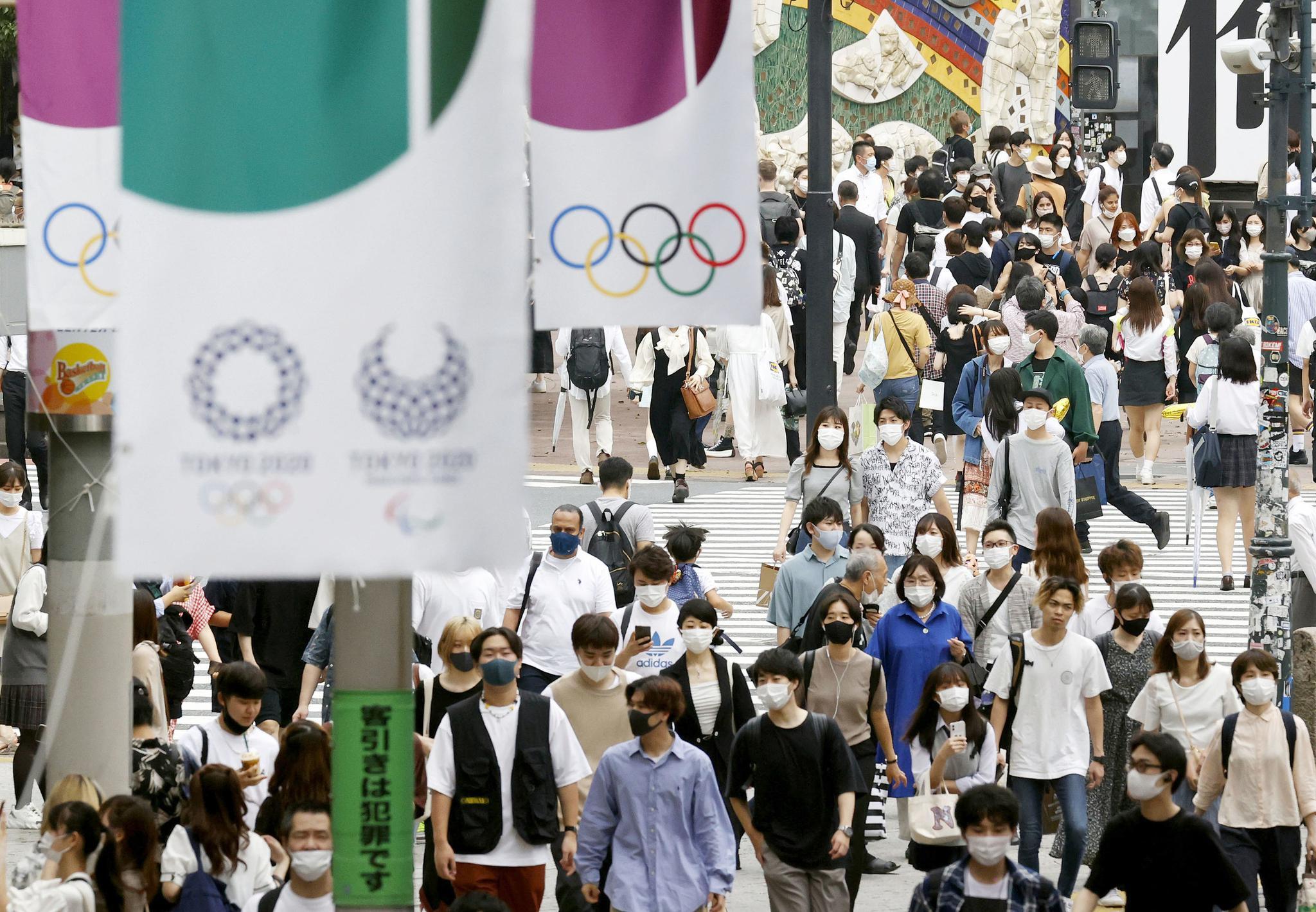 无人机组成东京奥运会徽后拼出地球