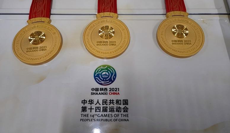 江苏队阮利俪、吴心怡摘得十四运会竞技项目的首枚金牌