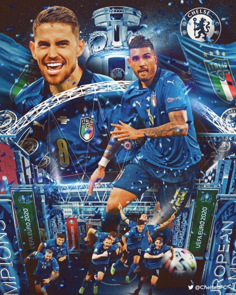 若日尼奥、埃莫森喜提本赛季欧洲杯+欧冠冠军