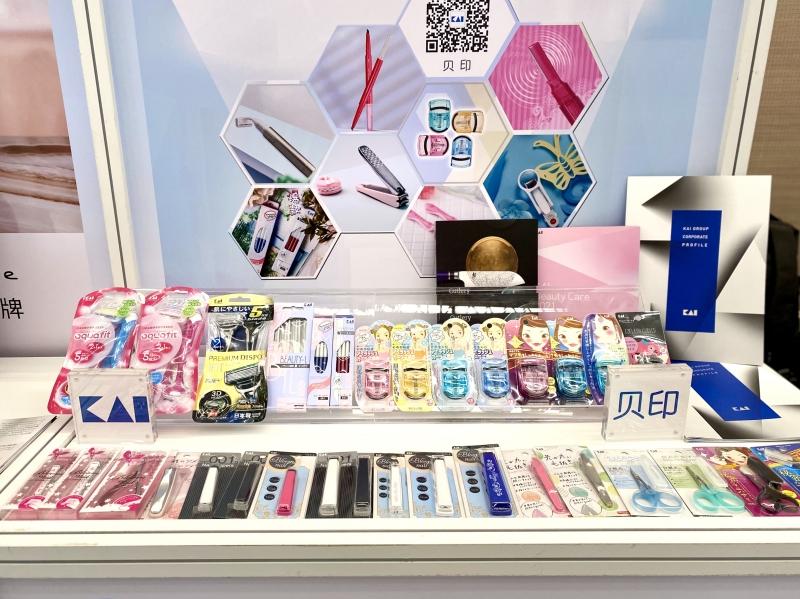 贝印拳头产品展示(央广网记者 唐奇云 摄)