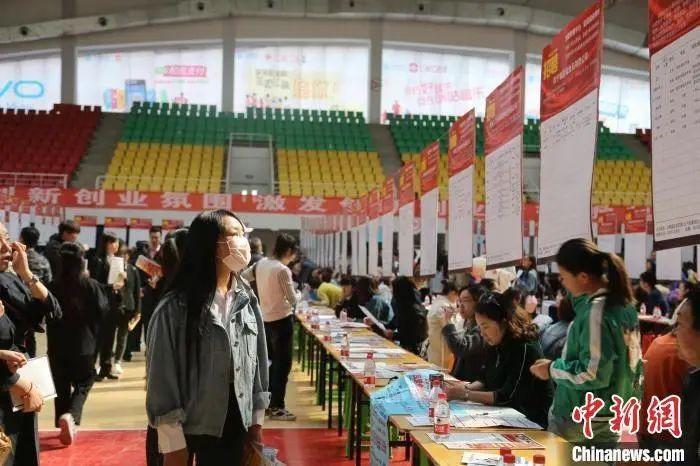 资料图:青海省官方组织的2021年招聘会现场。孙睿 摄