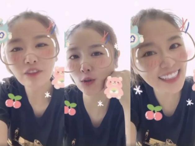 林心如录视频为陈美凤庆生 笑容甜美配可爱特效少女感十足