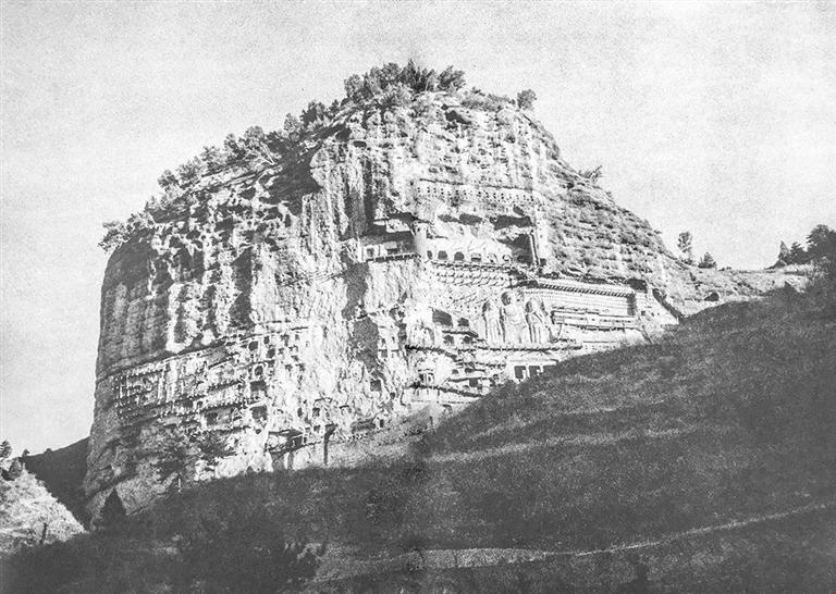 说陇史丨1956年,麦积山石窟的最原始风貌
