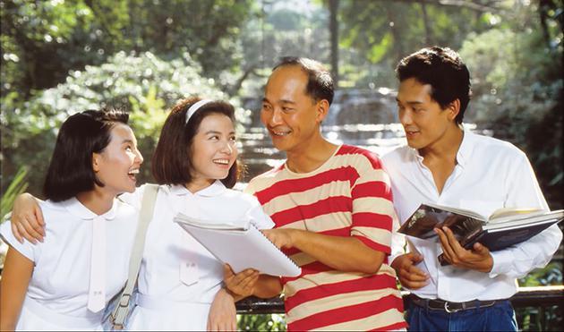 电影《流金岁月》工作照(左3为杨凡)
