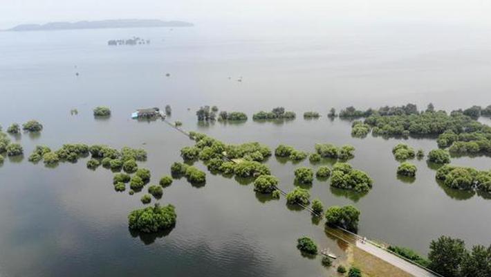 环洞庭湖各站全面超警戒水位