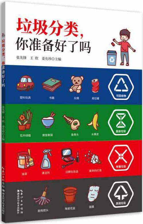 《垃圾分类,你准备好了吗》张先锋 王欣 姜允珍 湖北科学技术出版社 2020年7月 推荐人:张劲硕