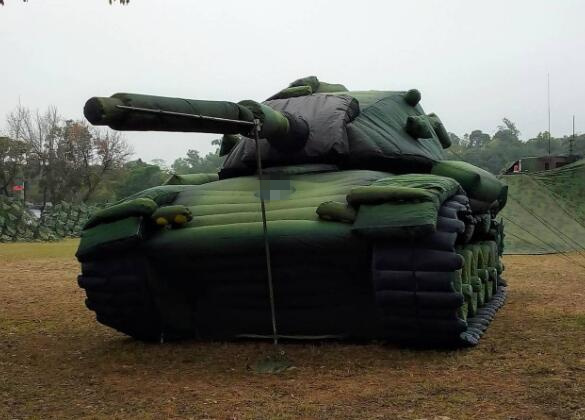 台军充气战车(台媒)