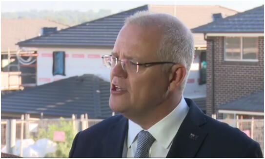 澳大利亚总理莫里森13日在悉尼对记者谈及与中国和美国的关系