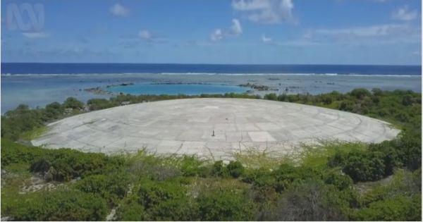 美在太平洋无人小岛存放核废料的混凝土穹顶建筑(美国《华盛顿邮报》网站)