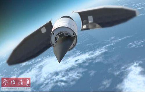 美国国防部研发的高超音速飞行器HTV-2构想图