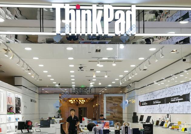 联想ThinkPad门店。图片来源:每经记者 谭玉涵 摄