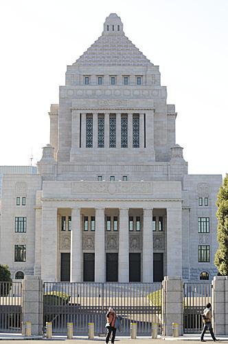 資料圖片:日本國會外景(新華社)