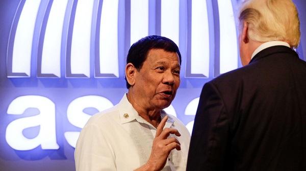 菲律宾总统杜特尔特和美国总统特朗普(图源:今日俄罗斯网)