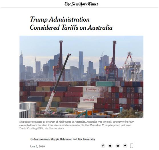 美媒:特朗普也想对澳大利亚加税 被国务院拦住了_德国新闻_德国中文网