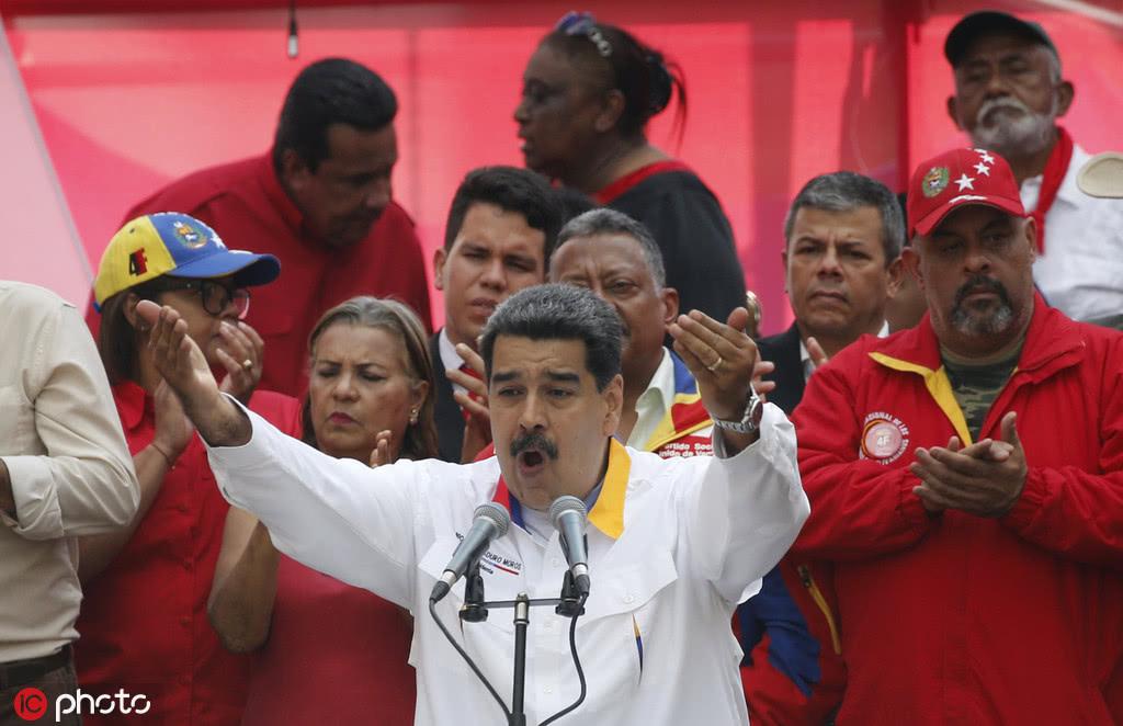 5月20日,馬杜羅舉行支持者集會,并提議提前舉行國民大會選舉/IC Photo